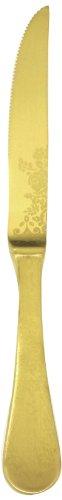Mepra Casablanca Ice Oro Steak Knife, Gold Matt, Set Of 12