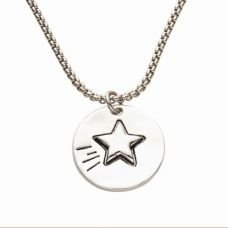 Pearl Token Star Necklace