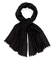 M&S Collection Pashminetta Oversize Scarf with Wool