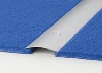 bergangsprofile mittig gelocht edelstahl geb rstet 100 cm inkl schrauben. Black Bedroom Furniture Sets. Home Design Ideas