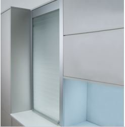 Vetro-Line Glass Tambour Kit - Frosted White (900 Millimeters, 1,400 Millimeters)