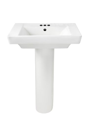 Best Price! American Standard 0641.400.020 Boulevard Pedestal 4-Inch Counter, White