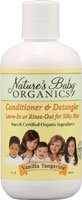 Natures Baby Organics Conditioner And Detangler Vanilla Tangerine - 8 Fl Oz