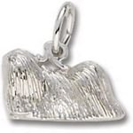 Rembrandt Charms Pekingese Dog Charm - Sterling Silver