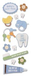 Jolee's Touch Of Jolee's Dimensional Sticker Baby/First Tooth SPJJ-138; 6 Items/Order