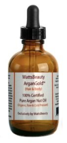 Watts Beauty ArganGold 100% Certified Pure Raw, Cold Pressed Argan Oil for Hair & Body - All Natural Virgin Argan Oil Direct from Morocco