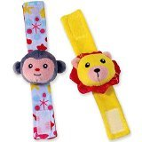 Manhattan Toy Savanna Lion & Monkey Wrist Rattle Set - 1