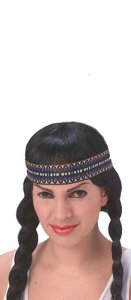 Native American Woman Wig Adult Halloween Costume Accessory