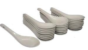M.V. Trading 201-08 Chinese Porcelain Soup Spoons, Set of 50 (White Porcelain Spoon compare prices)