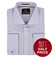 2in Shorter Sartorial Pure Cotton Prince of Wales Checked Shirt