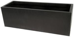 Gunmetal (black) Chelsea metal planters - rectangular - Large