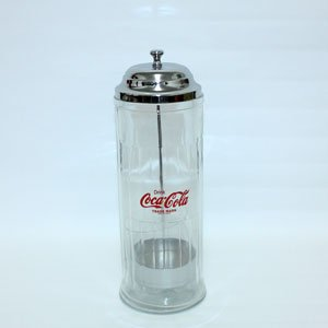 コカコーラ ガラス製ストローホルダー◆本格的なガラス製!お手軽にアメリカンダイナーな雰囲気を♫