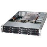 Supermicro SuperChassis 2U Rackmount Server Chassis, Black CSE-826BA-R1K28LPB