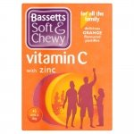 Bassetts Soft & Chewy Vitamin C with Zinc 45 One a Day Orange Pastilles