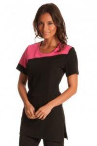Salonwear uniforms for beauty 39 muse 39 tunic black hot for Spa uniform amazon