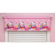 Hello Kitty Stars and Rainbows Window Valance - 1