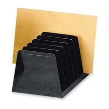 Sparco Incline Desk Sorter, 7 Compartments, 8-3/4 x 5-1/2 x 4-3/4 Inches, Black (SPR11876)