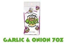 Everybody's Nuts Garlic & Onion Pistachios 7oz Bag (2 Bags)
