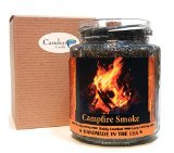 Campfire Smoke Wood Wick Candle 8 oz Super Scented Natural Wax Candle Burning Wood Fireplace Candle
