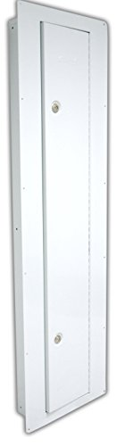 Homak WS00018002 Security Between the Studs Long Wall Safe, White (Wall Mounted Gun Safe compare prices)