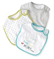 3 Pack Pure Cotton Assorted Bibs