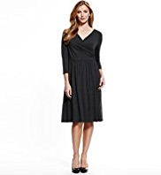 M&S Collection Ruched Waist Wrap Dress