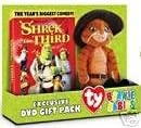 Shrek the Third DVD Gift Pack with Donkey Beanie Babie