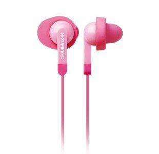 Zumreed Zum-80309 Fit N Quiet Memory Foam Cushioned Earphones (Light Pink)