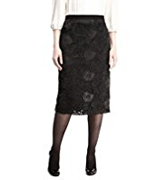 M&S Collection Floral Appliqué Lace Pencil Skirt