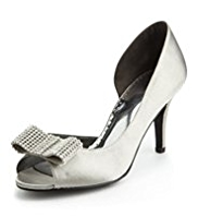 Per Una Peep Toe Bow Trim Shoes with Insolia®