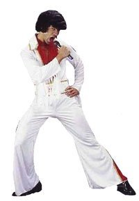 Party Time Fancy Dress Adults 50's Rockstar Flares Elvis Costume