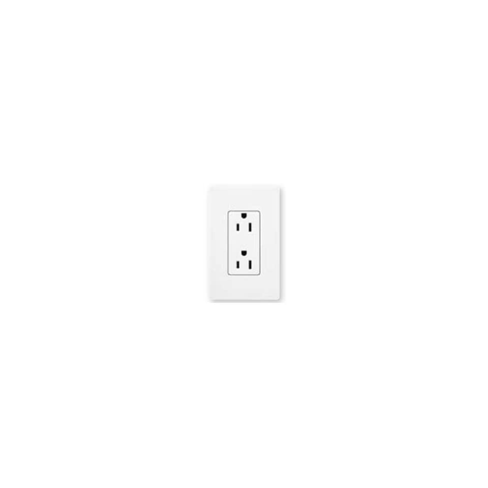 NEW LUTRON   #SCRS-15-TR-SW 15 A TAMPER RESISTANT RECEPTACLE SNOW COLOR