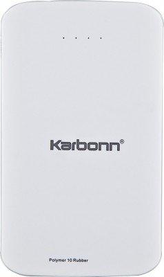 Karbonn-Polymer-10-Rubber-10000mAH-Power-Bank-(White)