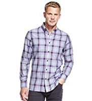 Blue Harbour Pure Cotton Multi-Checked Shirt