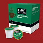 Green Mountain Coffee Roasters Gourmet Single Cup Coffee Original Decaf Eight O'Clock 18 Kcups (A)