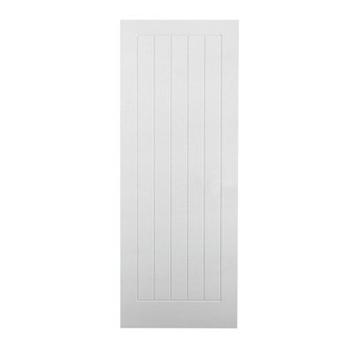 Cheap Lpd Textured Vertical 5p White Moulded Internal Doors 80 X 32