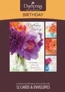 DaySpring Birthday Boxed Cards - Flowers of Joy 12 Count (37110)