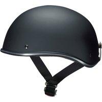 マルシン工業 ハーフヘルメット D-118 マットブラック フリーサイズ(57~60CM未満)