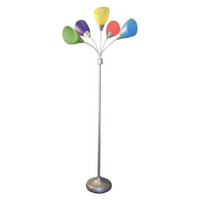 5 Head Multi Directional Multi Colored Arm Lamp front-179858