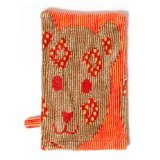 Breganwood Organics Bath Mitt, Jungle Orange