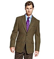 Sartorial Luxury Pure New Wool Harris Tweed 2 Button Checked Jacket
