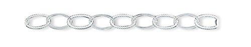 Sterling Silver Fancy Link Anklet: Length 10 in
