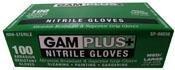 Gam Paint Brushes SP98856 Nitrile Gloves, 100 Pack