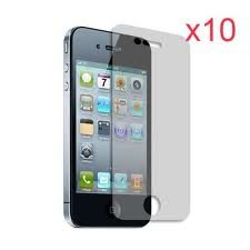 10 x Screen Protector & Cleaning Cloth for New Apple iPhone 4 / iPhone 4S (Pack of 10)