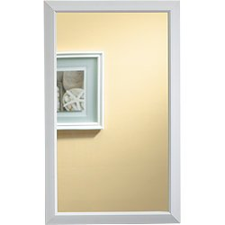 Jensen 625N244Whc Hampton Recessed And Framed Medicine Cabinet, White front-605617