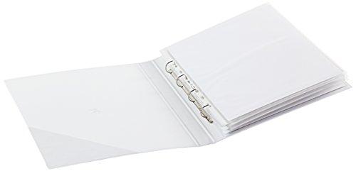 Sei Rota 36255001 Raccoglitori Personalizzabili, 4 Anelli, D, 25 mm, 30 x 42 cm, Bianco