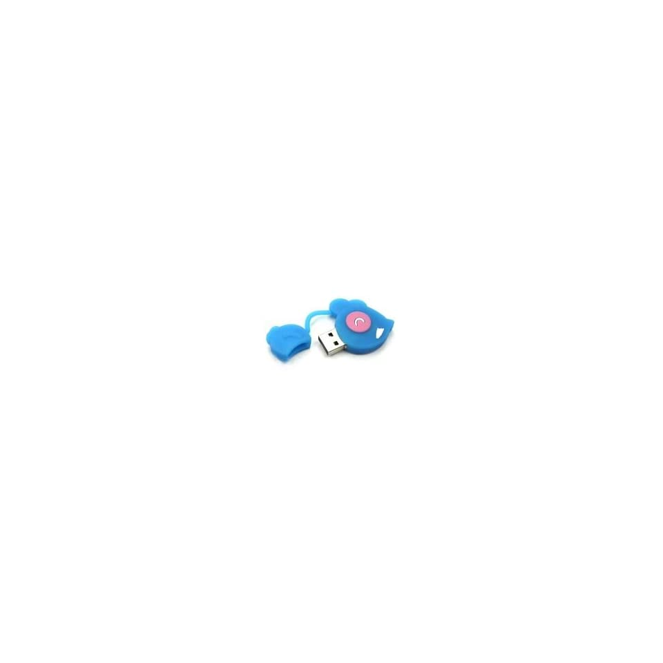 8GB Color Mouse Shaped Cartoon USB Flash Drive Blue