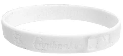 Official MLB Major League Baseball Team Rubber Bracelet St. Louis Cardinals [White] at Amazon.com