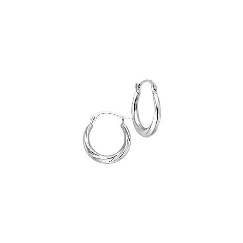 14kt. White Gold Hoop Earrings Jewelry