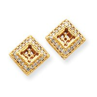 14k Diamond Earrings Jacket - JewelryWeb